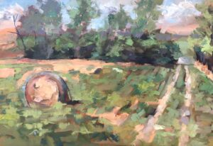Haybale with Road by Larry Smith Open037