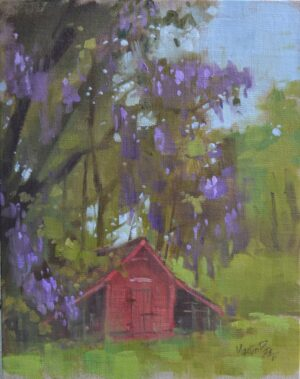 Red Barn with Wisteria by Martin Pate Open057